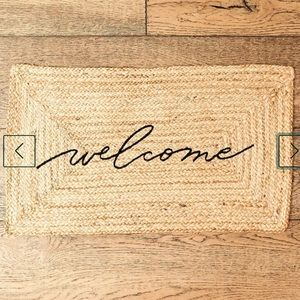 Welcome Mat NWT All Natural